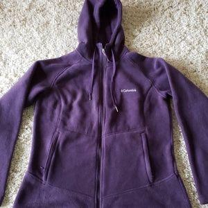 Columbia hooded full zip fleece